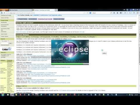 comment installer svn sur eclipse