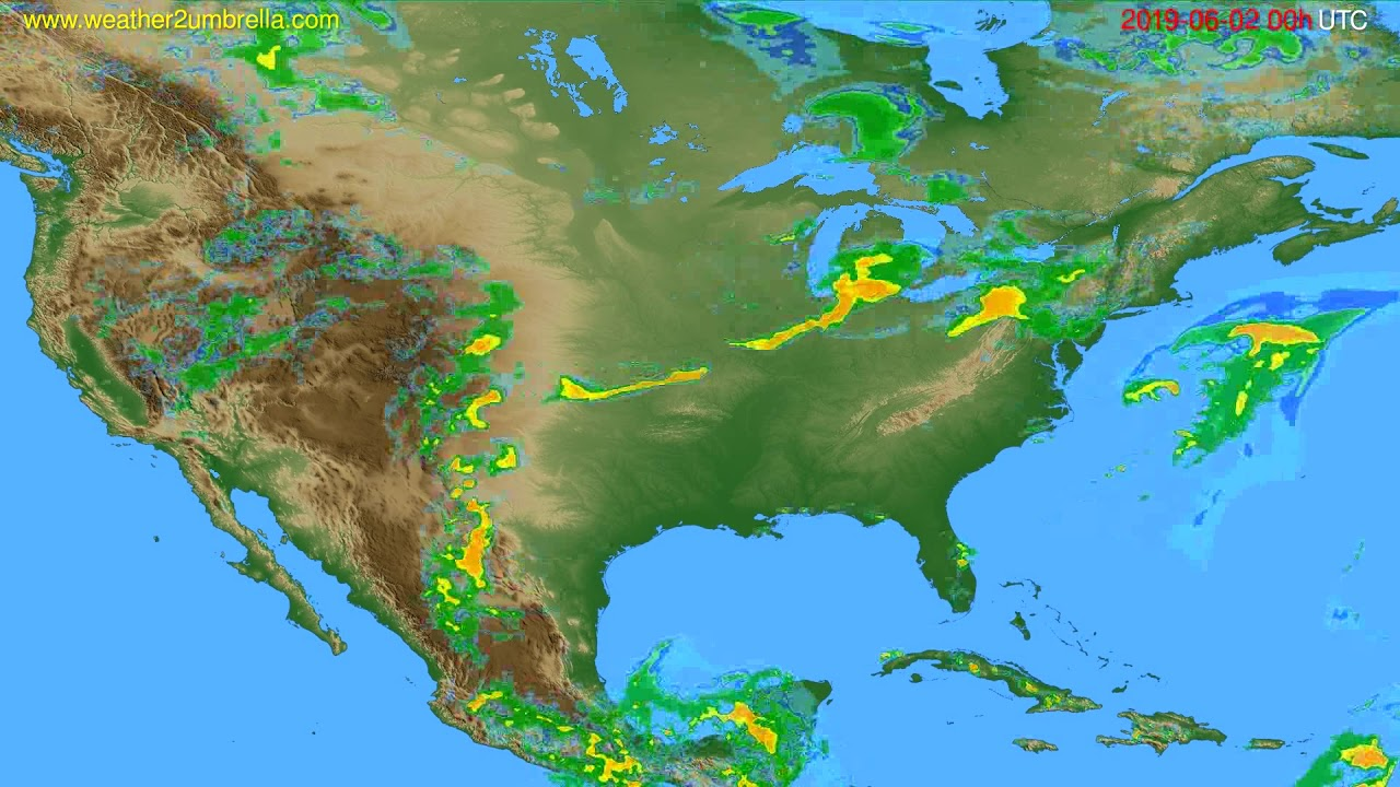 Radar forecast USA & Canada // modelrun: 12h UTC 2019-06-01