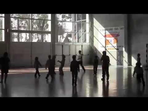 Entrenamientos en el polideportivo de Sallent.