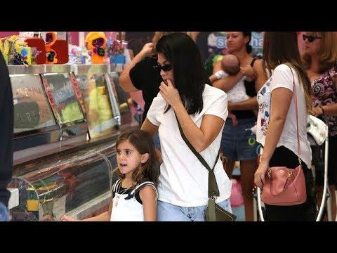 EXCLUSIVE - Kourtney Kardashian Treats Penelope To Ice Cream At Sloan's