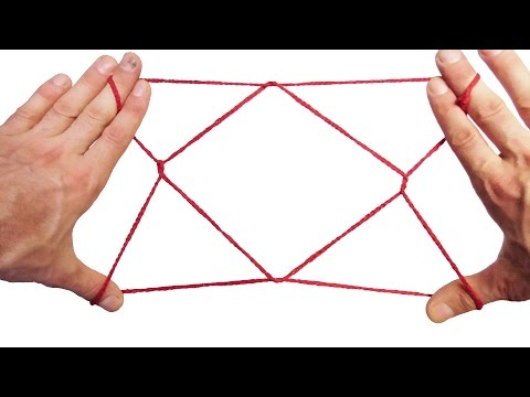 String Tricks! How To Make A 1 Diamond Jacobs Ladder