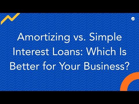 Amortizing vs Simple Interest Loans