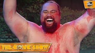 Watch this act, Tummy Talk, from The Gong Show. Celebrity Judges: Elizabeth Banks Will Forte Fred Arminsen Watch more acts on The Gong Show Thursdays at 109...