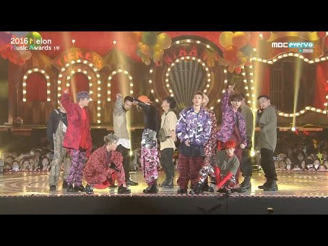 iKON - '꽐라(HOLUP!)' + '시노시작(SINOSIJAK)' + '덤앤더머(DUMB&DUMBER)' in 2016 MELON MUSIC AWARDS