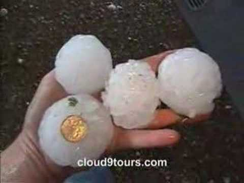 Hail - Tennis ball size hail in Woodson, TX See more at http://www.cloud9videos.com.