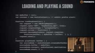 Making the Web Rock: The Web Audio API