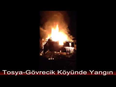 Tosya-Gövrecik Köyü yangın