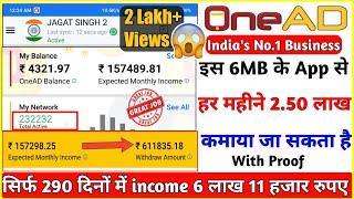 Video OneAD इस App से मैंने कमाए 6 लाख 11 हजार रुपये सिर्फ 290 दिन में  A to Z Explain, MP3, 3GP, MP4, WEBM, AVI, FLV Desember 2018