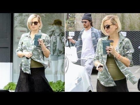 Pregnant Kate Hudson Rocks Camo While Maternity Shopping With Beau Danny Fujikawa And Mom