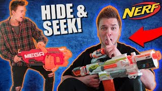 EXTREME NERF HIDE AND SEEK CHALLENGE! (NERF WAR)