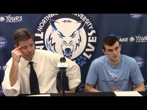Northwood University Men's Basketball (1/30/16) Northern Michigan 82, NU 69 - Press Conference
