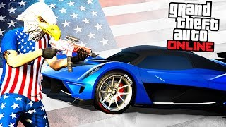 """This video shows all the contents added with the free """"Independence Day 2017"""" Update for Grand Theft Auto Online.===================================0:00 - Clothing Items (Male Character)1:00 - Noise Rockstar Logo Tee & Noise Tee1:06 - Clothing Items (Female Character)2:06 - Masks2:20 - Mk2 Weapons Liveries3:20 - Musket4:20 - Fireworks Launcher5:23 - Dewbauchee Vagner7:52 - MOC Liveries8:14 - Vapid Liberator9:14 -  Western Sovereign10:57 - Star Spangled Banner11:13 - Patriot Tire Smoke===================================GTA Series Videos is a dedicated fan-channel keeping you up to date with all the latest news, video walkthroughs and official trailers of the most successful video games published by Rockstar Games, including Grand Theft Auto series, Red Dead Redemption, Max Payne, L.A. Noire, Bully and many others.This channel is in no way tied to Rockstar Games or Take-Two Interactive.Follow GTA Series Videos on: YouTube - http://www.youtube.com/GTASeriesVideos Google+ - http://www.google.com/+GTASeriesVideos Facebook - http://www.facebook.com/GTASeriesNews Twitter - http://www.twitter.com/GTASeries Instagram - https://instagram.com/GTASeriesNews Vine - https://vine.co/GTASeriesFor more info and videos visit:http://www.GTASeriesVideos.com  http://www.GTA-Series.com  http://www.GTA-Downloads.com  http://www.Games-Series.com"""