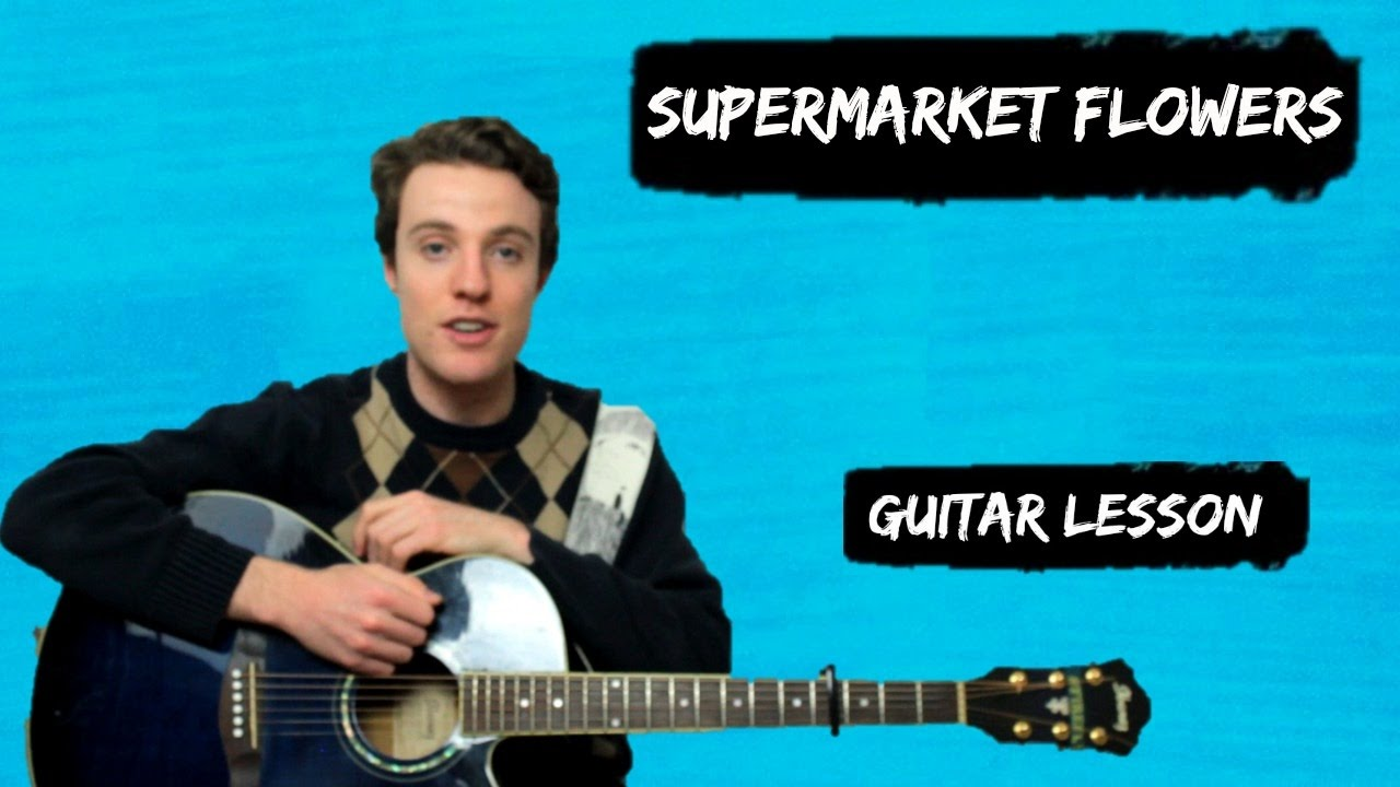 Ed Sheeran – Supermarket Flowers | Guitar Chords and Lyrics for Beginners