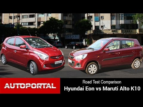 Hyundai Eon Vs Maruti Alto K10 Test Drive Comparison – Autoportal