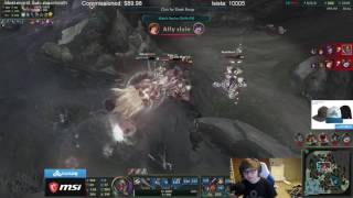 http://www.reddit.com/r/leagueoflegends/comments/5yxru9/sneaky_insane_damage_with_new_lucian_botrk/     https://clips.twitch.tv/PiliablePoisedDragonflyTBCheesePull