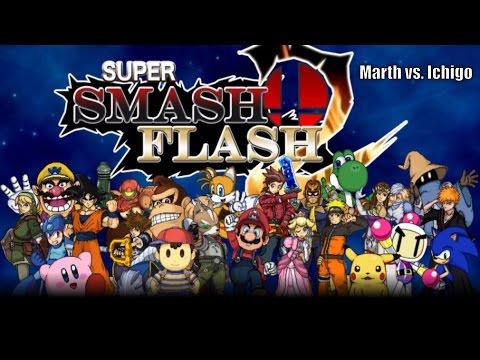 Super Smash Flash 2 - Marth vs. Ichigo | Swordsmen Battle