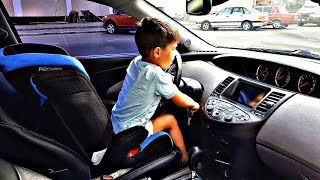 Video Quest child himself driving a car FOR SWEETS MP3, 3GP, MP4, WEBM, AVI, FLV September 2018