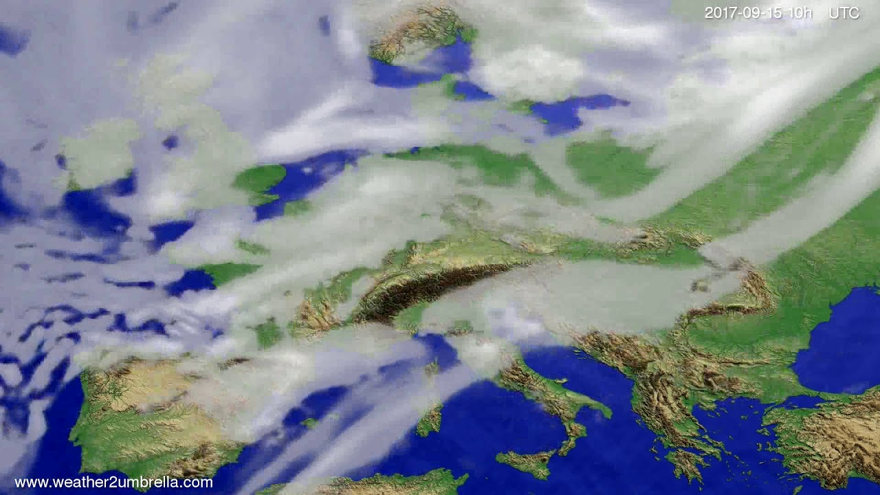 Cloud forecast Europe 2017-09-13