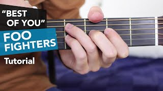 Foo Fighters - Best Of You Guitar Lesson Tutorial - Acoustic/ Electric