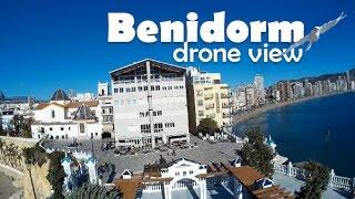 Benidorm - Costa Blanca Spain  city pictures gallery : Benidorm, Costa Blanca, Spain (Espana). Drone view, Vista drone