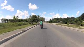 Travel around the whole country of Nauru in under a 2 minutes, the island has 9000 people and a speed limit of 40km/h. Pictures by Joe Armao ,The Age newspap...