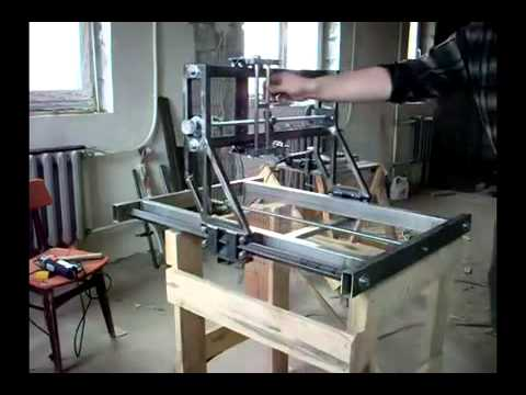Фрезерный станок по дереву с чпу видео своими руками