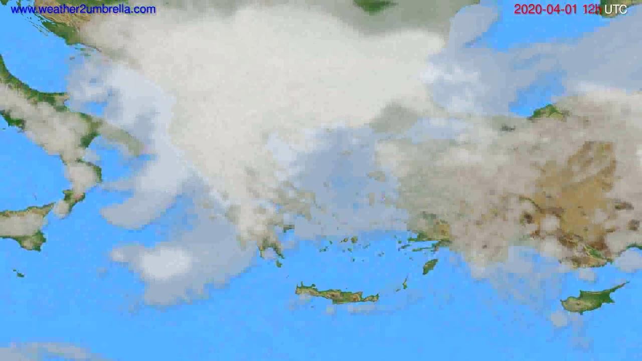 Cloud forecast Greece // modelrun: 00h UTC 2020-04-01