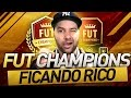 FIQUEI RICO NO ULTIMATE TEAM - FUT CHAMPIONS FIFA 17