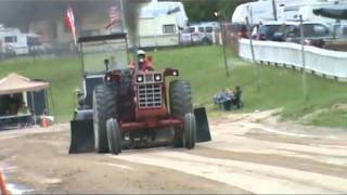 The Adirondack Truck and Tractor Pullers (ATPA) 11500lb Hot Farm Tractors from the fifth event of the season at Westport, NY ...