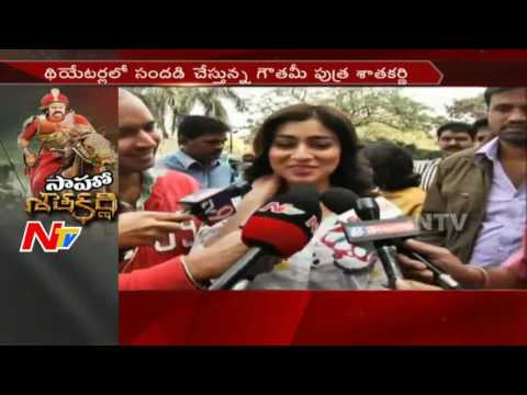 Download GPSK : Heroine Shriya Saran Watching Gautamiputra Satakarni at Prasads || #GPSK || Hyderabad || NTV HD Mp4 3GP Video and MP3
