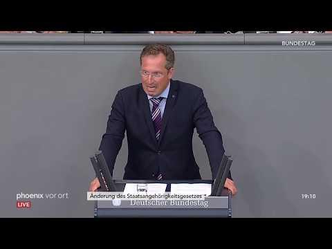 Bundestagsdebatte zur Änderung des Staatsangehörigkeitsgesetzes am 27.06.2019