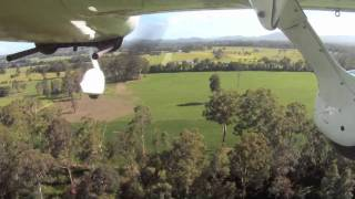 Cirrus SR20 Grass Airfield Takeoff And Landing