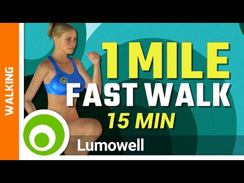 1 Mile Fast Walk At Home Workout