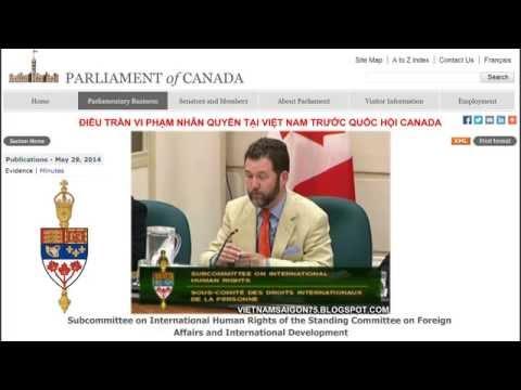 Điều trần Việt Nam vi phạm nhân quyền trước Quốc hội Canada 29/5/2014