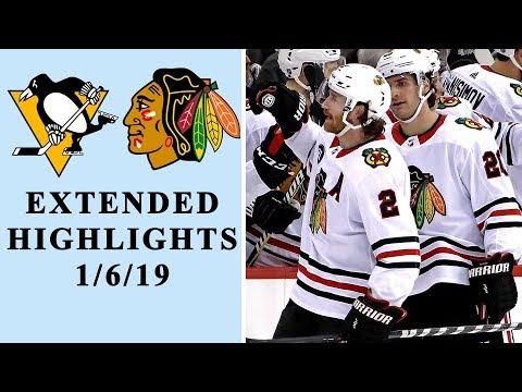 Video: Pittsburgh Penguins v. Chicago Blackhawks | EXTENDED HIGHLIGHTS | 1/6/19 | NBC Sports