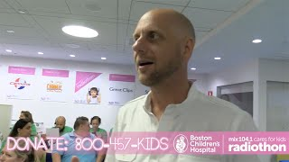 Karson and Kennedy give you a behind the scenes tour of the Mix Cares for Kids Radiothon at Boston Children's Hospital