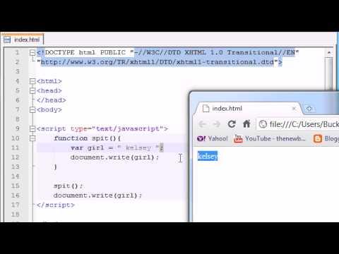 JavaScript - Global & Local Variables