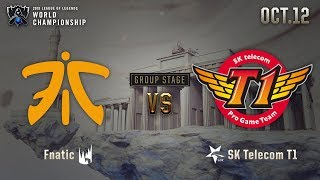 FNC vs SKT | GROUP STAGE Day 1 H/L 10.12 | 2019 Worlds Championship
