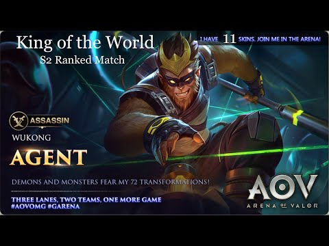 Garena AOV - Arena Of Valor The Monkey King Wukong S2 Ranked Match