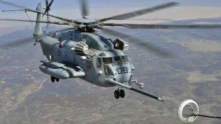 Christie Digital trade study video on the CH-53E flight training device, built by Aero SImulation.