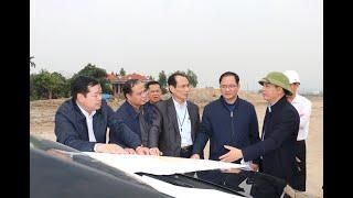 Bí thư Thành ủy Trần Văn Lâm kiểm tra công tác GPMB các dự án