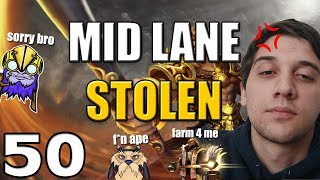 Arteezy - Best Moments #50- WHAT CHU MEAN SORRY!? ft MID LANE STOLEN