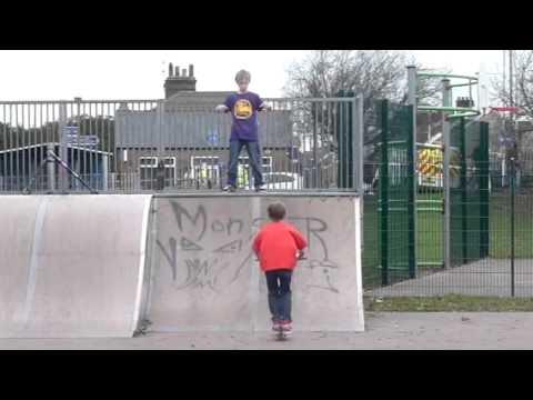 Sam Ridgway-hull (big air on scooter at cross skatepark)