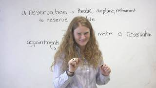 English Vocabulary - Appointments&Reservations