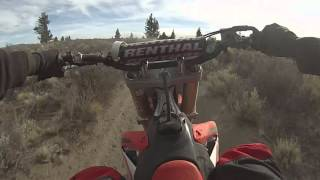 7. 2015 CRF250R trail riding. Aggressive power mapping