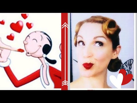 'Extra Voi-gin!'-Olive Oyl Inspired Hair/Makeup for Animated Angels