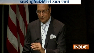 IndiaTV Chairman Rajat Sharma Addresses Students at Harvard University