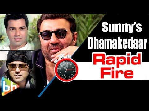 Sunny Deol's Dhamakedaar Rapid Fire On Amrish Puri | Dharmendra | Ghayal | Bobby Deol