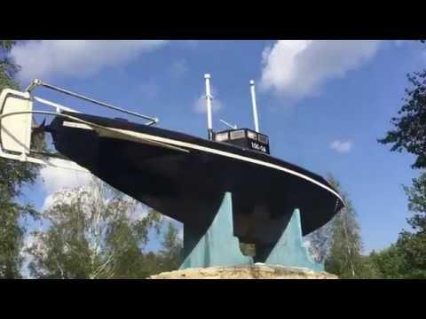 демонстрация с.к.джевецким своей подводной лодки на серебряном пруду в