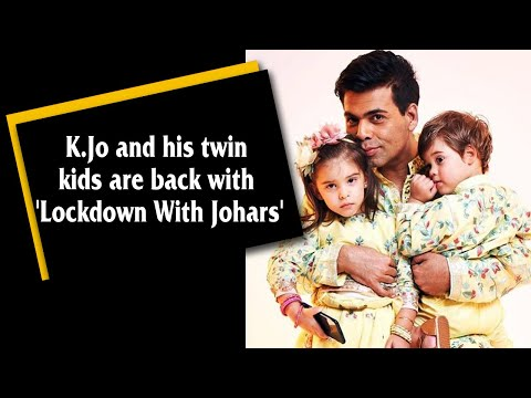 K.Jo and his twin kids are back with 'Lockdown With Johars'